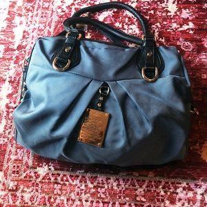 JPK PARIS 75 blue nylon handbag